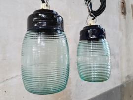 Groene Glazen Hanglamp