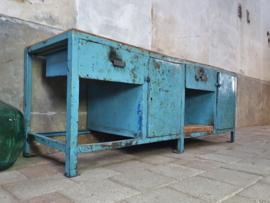 Lichtblauwe Industriële Werkbank XIII