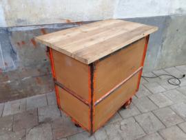 Industriële Stalen Tafel/Kar 2