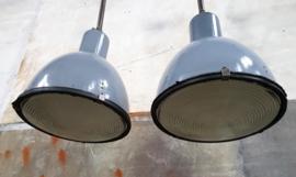 Industriële Blauwe Fabriekslamp | Lang