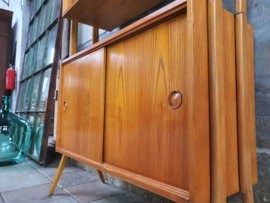 Vintage Highboard | Design Jirák Retro Deens Vitrine Kast VI