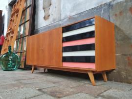 Design Lowboard by Jiroutek U-460 | Zwart/Wit/Roze