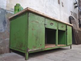 XL Groen Industriële Werkbank   203cm Breed