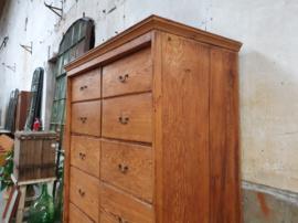 Antieke Grenenhouten Ladenkast | Ci. 1900