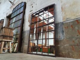 XL Industriële Stalen Boogspiegel  | B193x132