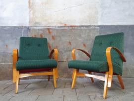Set Groene Jirak Design Fauteuils