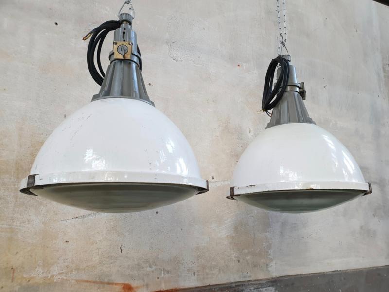 Industriële Witte Fabriekslamp | Diameter 45cm