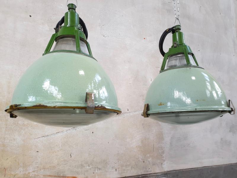 Industriële Hanglamp Emaille Lichtgroen
