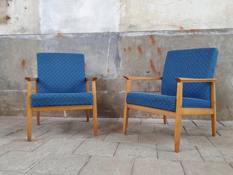 Blauwe Design Stoelen.Vintage Blauwe Stoelen Stoelen Pakhuis Noord