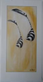 POSTER ZEBRA BIRDS 2 60 x 30 cm
