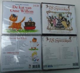 DE KAT VAN OME WILLEM  LIEDJES  en  18 KLASSIEKE SPROOKJES CD