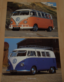 VW BUS VW CAMPER 1965 2 POSTERS