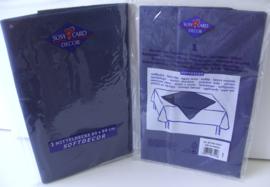 TAFELKLEED SUSY CARD DECOR 80X80 cm DONKER BLAUW 6 STUKS