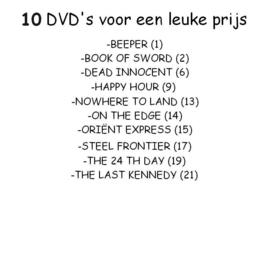 DVD MIX 10 STUKS.