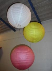 LAMPION FEEST DECORATIE MIX KLEUREN DIA 40 CM 3 stuks