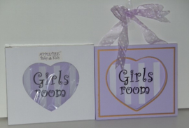 GIRLS ROOM LILA WANDDECORATIE Appletree