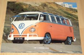 VW BUS VW CAMPER 1965 1 POSTER