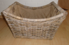 ENORME GROTE PICKNICKMAND BIG BASKET 54X44X34 CM