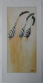 POSTER ZEBRA BIRDS 1 60 x 30 cm