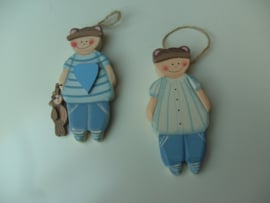 ORNAMENT JONGEN 2 DLG SET