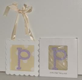 Letters houten P tm Z wanddecoratie