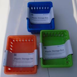 PLASTIC KORFJES 3 KLEUREN SET 3 STUKS