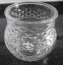 WINDLICHT VAAS BOL 13,5 CM GLAS