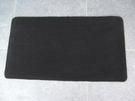 MAT VLOERMAT ZWART 90X50 cm 6 stuks