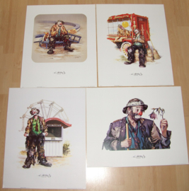 CLOWNEN THE EMMETT KELLY Jr COLLECTION 3), 4 POSTERS