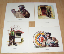 CLOWNEN THE EMMETT KELLY Jr COLLECTION 1), 4 POSTERS