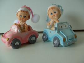 MINIATUUR BABY BLAUW / ROSÉ v a 4 STUKS IN AUTO