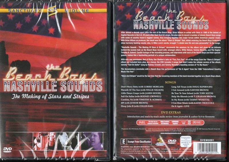 BEACH BOYS THE NASHVILLE SOUNDS DVD 5050749500915