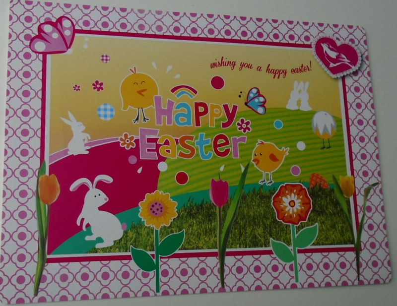 PLACEMAT ROSE HAPPY EASTER 4 DELIG