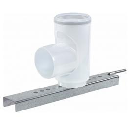 M&G Rookgasafvoer PP 80 mm - Steunbocht 90° voor vaste buis