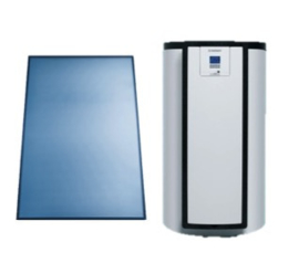 Vaillant AuroStep Plus 150 Mono + 1 verticaal zonnepaneel