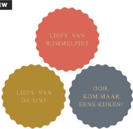 Liefs van Sinterklaas stickers