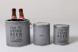 Blik 2.5 liter time to drink beer gevuld!