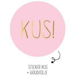 Sticker 'Kus!'