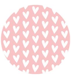 kadosticker hart per 10 stuks