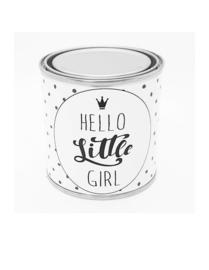 "Kado blik "" Hello Little Girl "" klein"