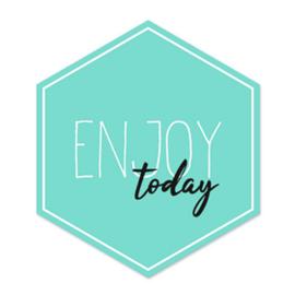 Kadosticker 'Enjoy today'