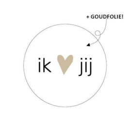 Sticker 'ik ♡ jij'