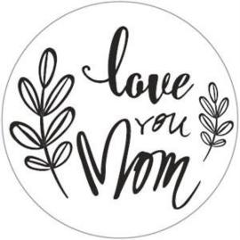 Sticker 'Love you mom'