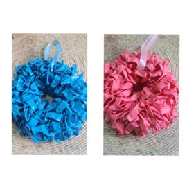 Ballonnen krans blauw