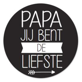 Sticker 'Papa jij bent de liefste'