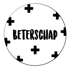 Sticker 'Beterschap'