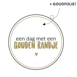 Sticker 'Gouden randje'