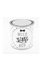 """Blikje """" Hello Little Boy """" klein"""
