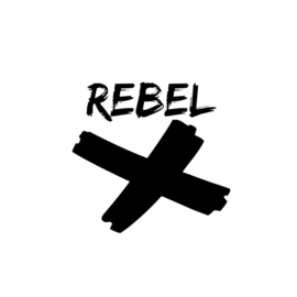 "Strijkapplicatie "" Rebel"""