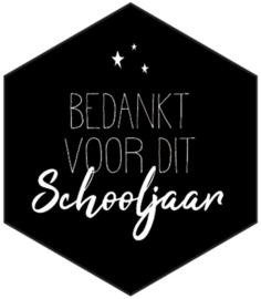 Sticker 'Bedankt voor dit schooljaar'